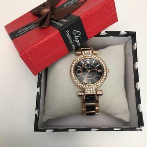 Timiho Black & Rose Gold Watch